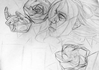 woman og sketch
